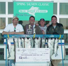 2004 Blue Water Spring Salmon Classic Tournament Winners